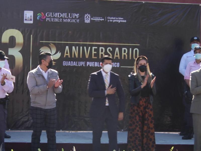 Celebran tercer aniversario de Guadalupe Pueblo Mágico