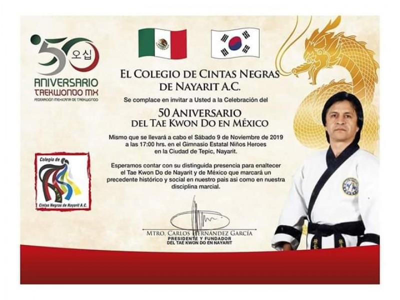 Celebrarán los 50 años del TKD en México