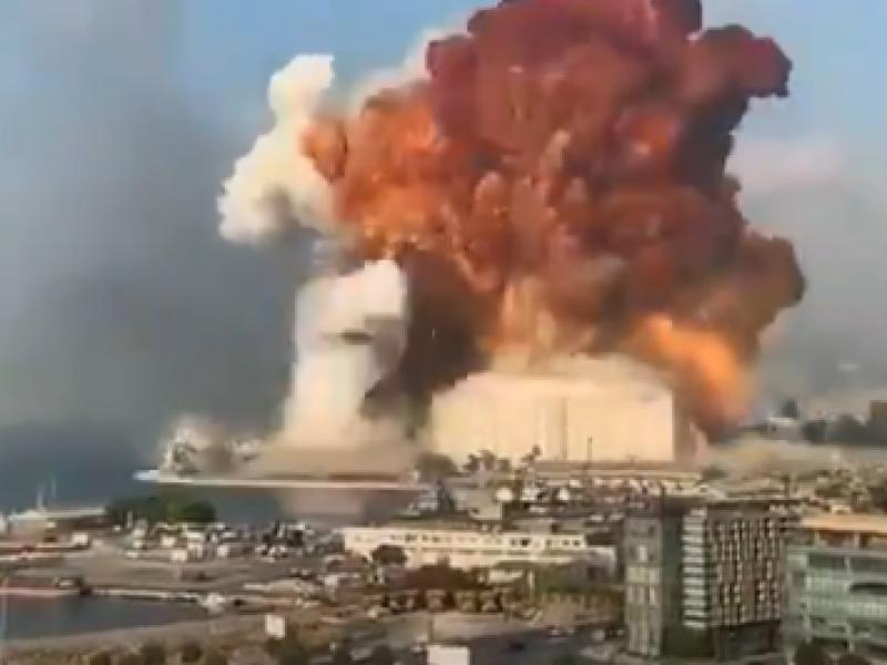 Impactantes imágenes deja explosión en Beirut