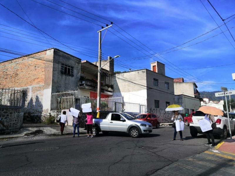Cerrada calle José Mercado por manifestación