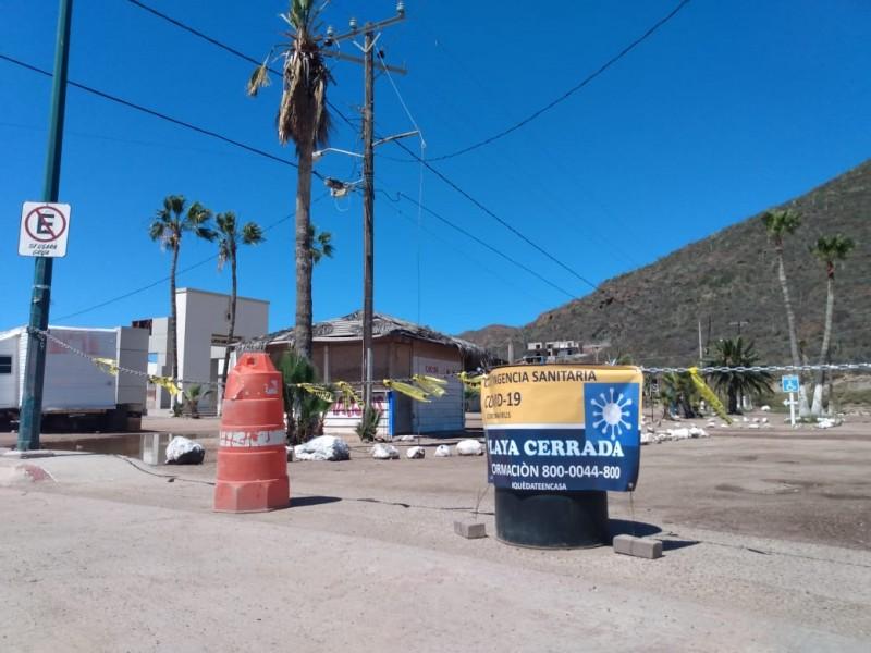 Cerrada Playa Miramar por contingencia sanitaria Covid-19