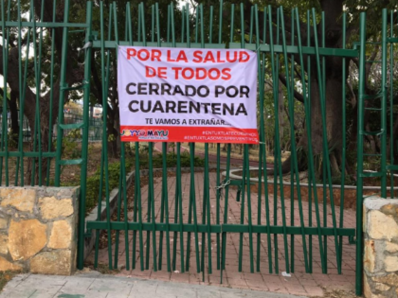 Cerrados parques por semáforo rojo epidemiológico