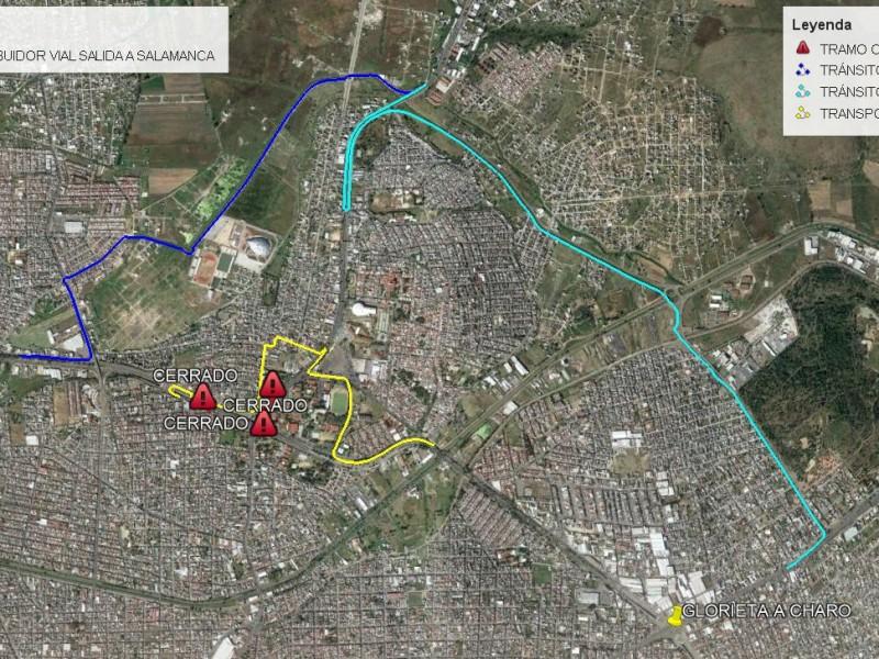 Cerrarán circulación en tres puntos por obra en salida Salamanca