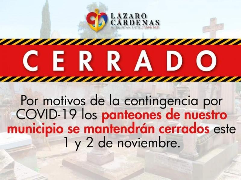 Cerrarán panteones 1 y 2 de noviembre en Lázaro Cárdenas