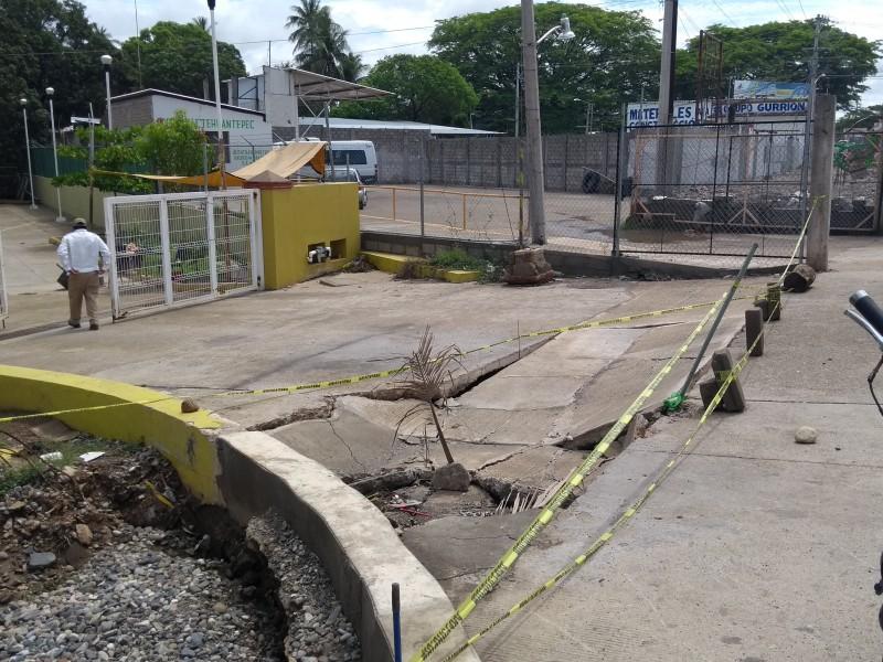 CESSA de sufre afectaciones por lluvias Tehuantepec