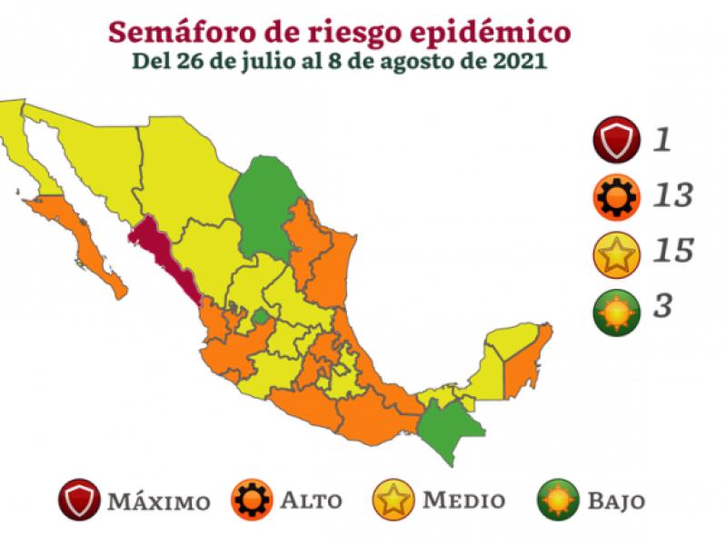 Chiapas se mantiene en semáforo epidemiológico verde