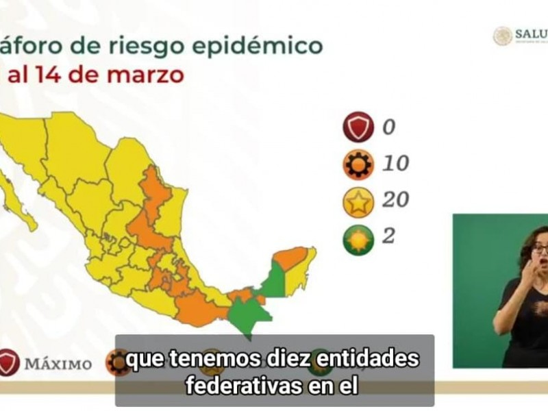 Chiapas se mantiene en semáforo verde