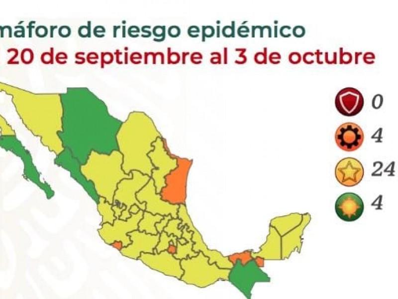 Chiapas seguirá en Semáforo Epidemiológico Verde