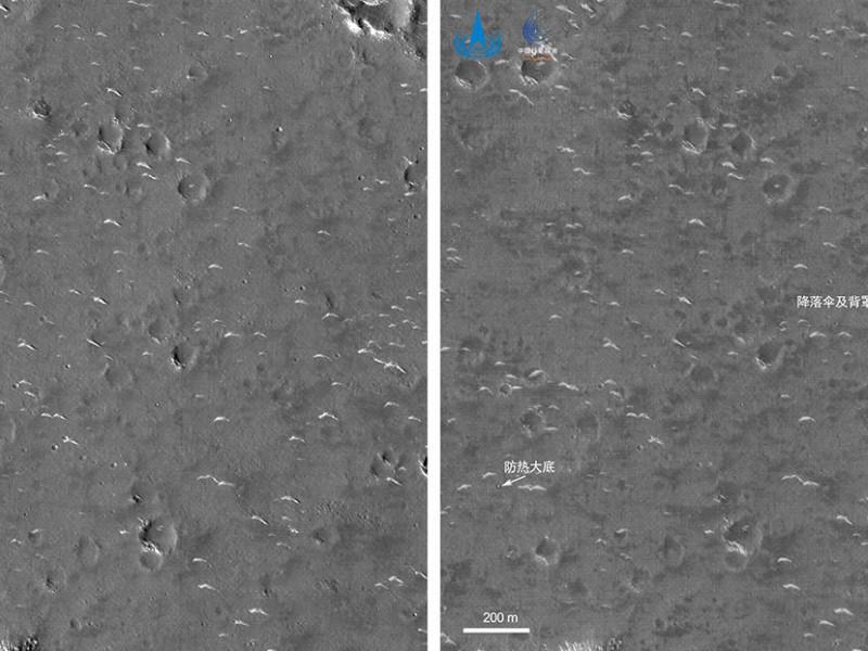 China muestra sus primeras imágenes del Tianwen-1 en Marte