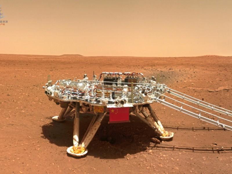 China publica primeras imágenes de Marte tomadas por Róver Zhurong