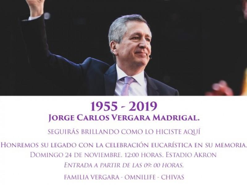 Chivas anuncia misa para Jorge Vergara