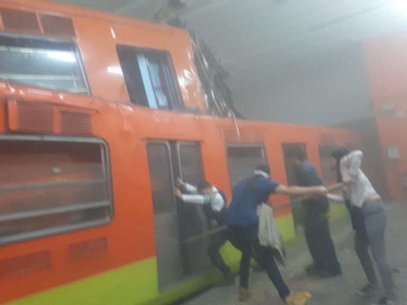 Chocan 2 trenes del metro en Cdmx, hay 1 muerto