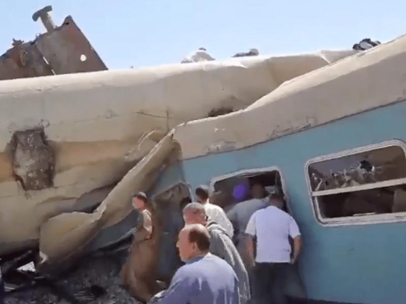 Fatal choque de trenes en Egipto deja al menos 32 muertos
