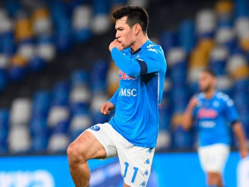 Hirving Lozano anota en la victoria de la Napoli
