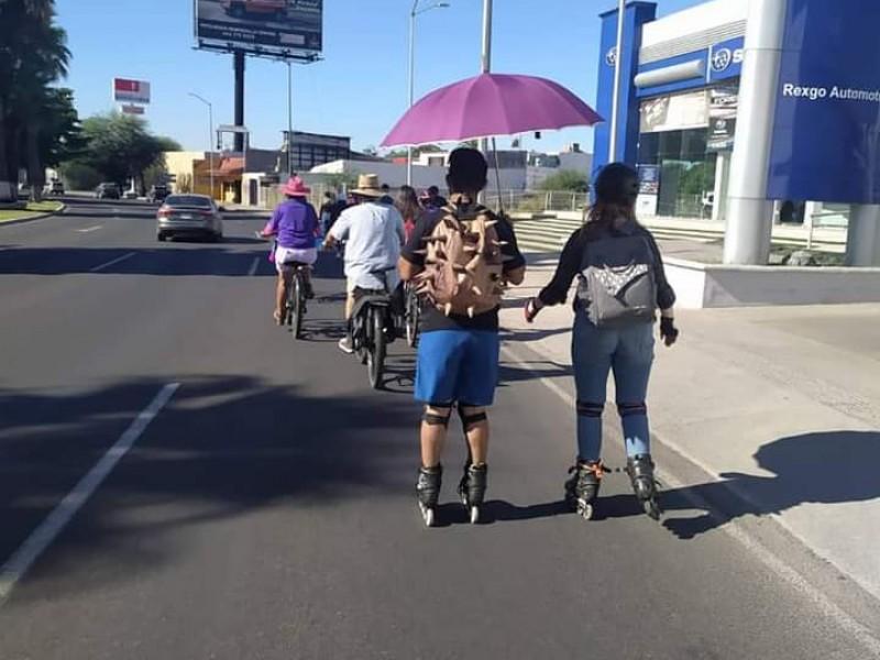 Ciclistas realizan marcha para exigir la Ley de Movilidad