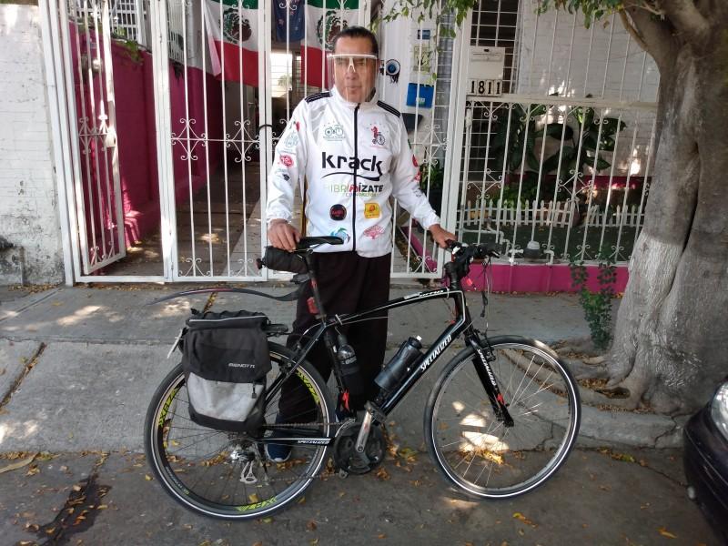 Ciclistas realizarán homenaje a trabajadores de la salud