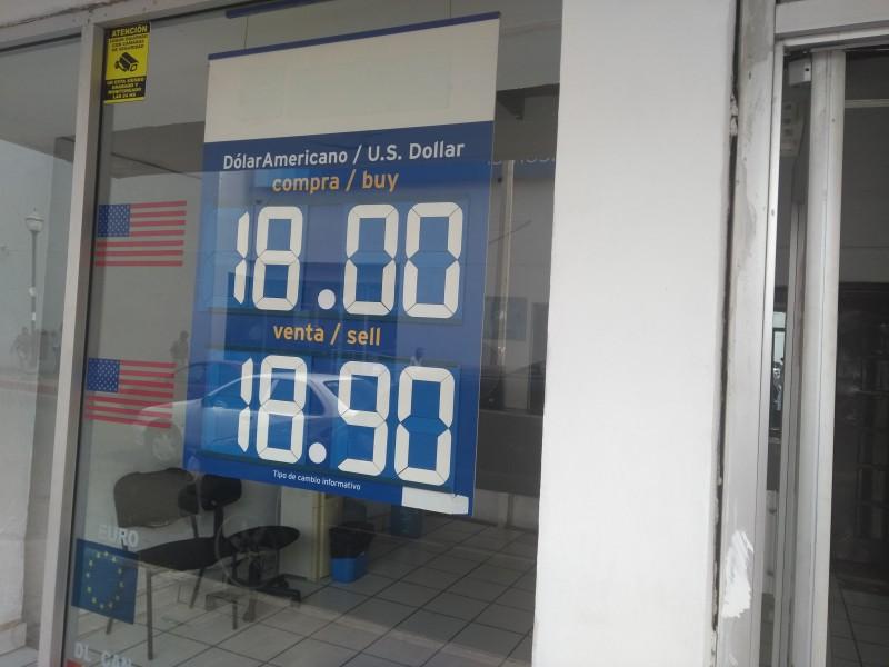 Cierra dólar debajo de 19 pesos