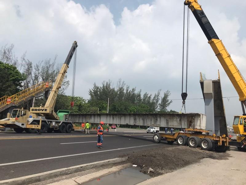 Cierran carretera Veracruz-Cardel por trabajos de rehabilitación