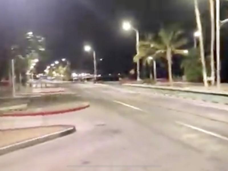 Cierran el malecón de La Paz para evitar aglomeraciones