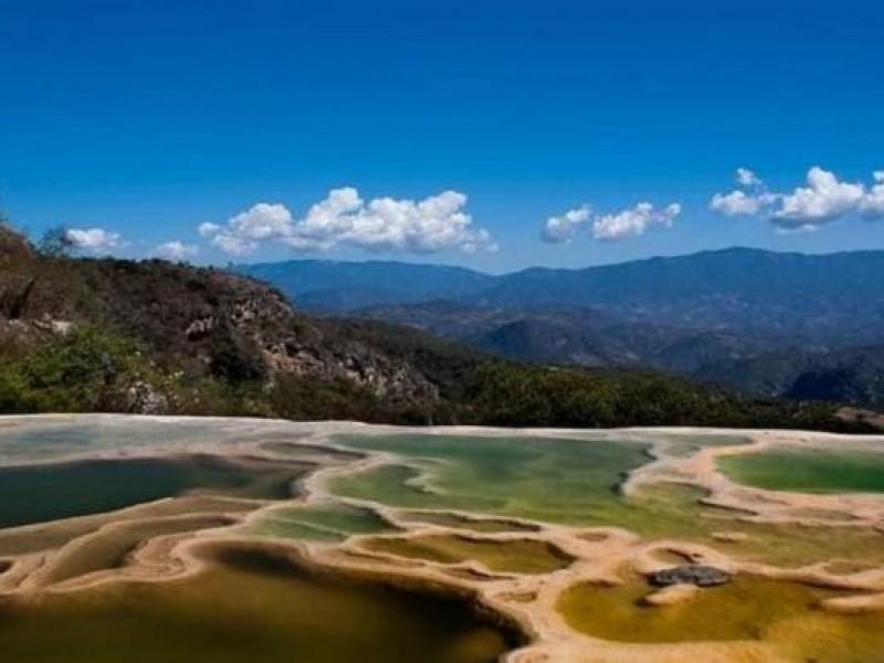 Cierran la zona turística Hierve el agua en Oaxaca