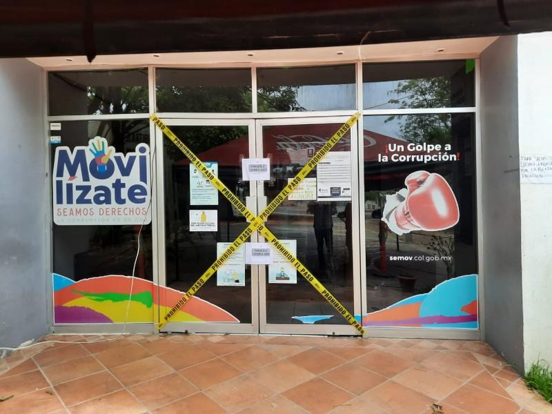 Cierran oficinas de movilidad en Manzanillo por contagios covid