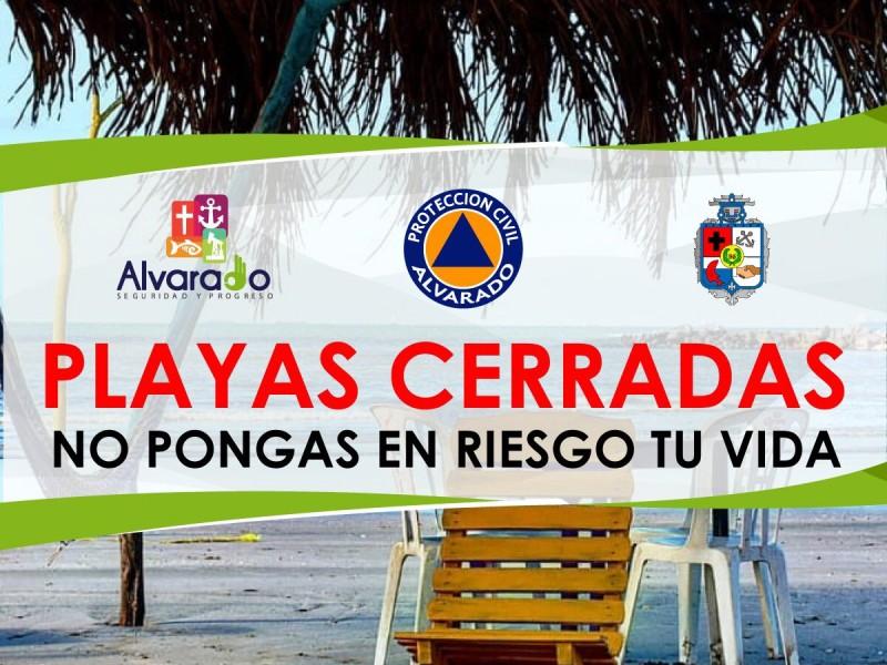 Cierran playas de Alvarado como medida de prevención