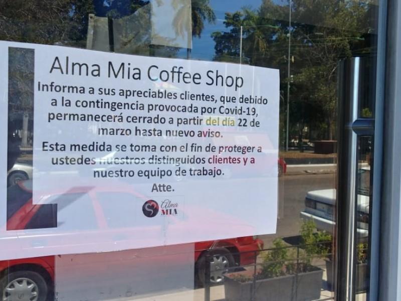 Cierran temporalmente  restaurantes en Los Mochis