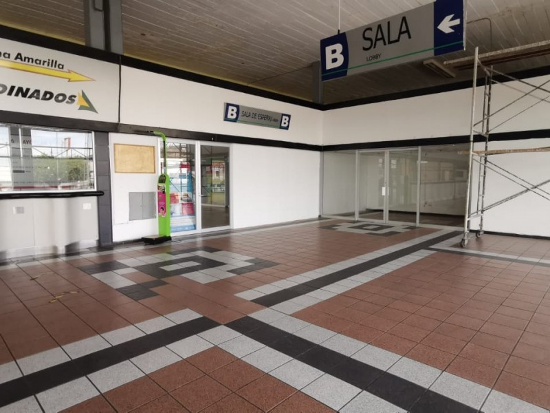 Cierran una sala en terminal de autobuses
