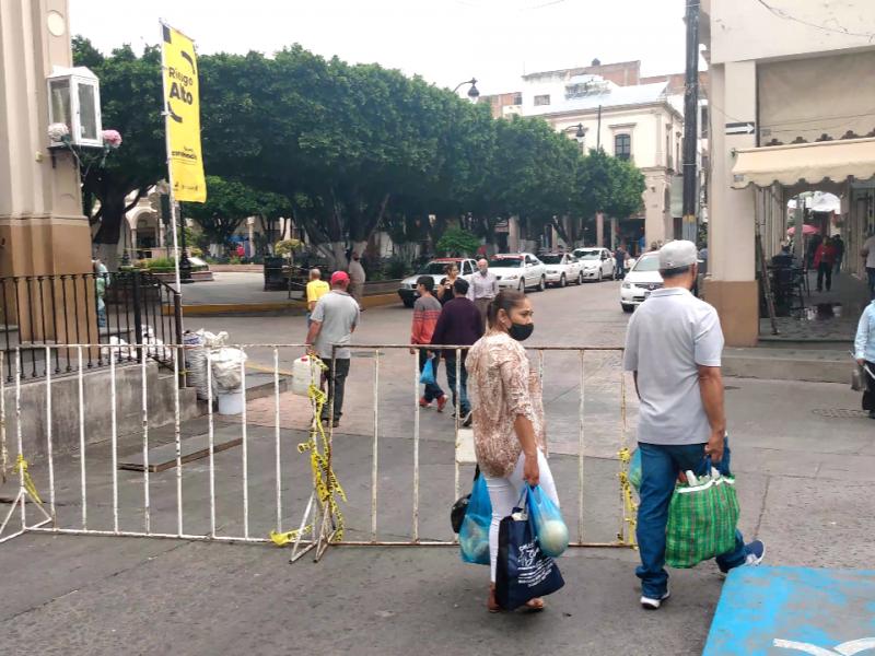 Cierran vialidad en la zona centro de Sahuayo