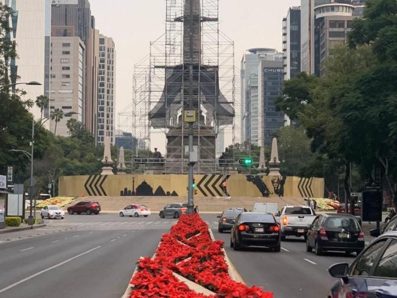 Cierres viales en Reforma por desfile navideño