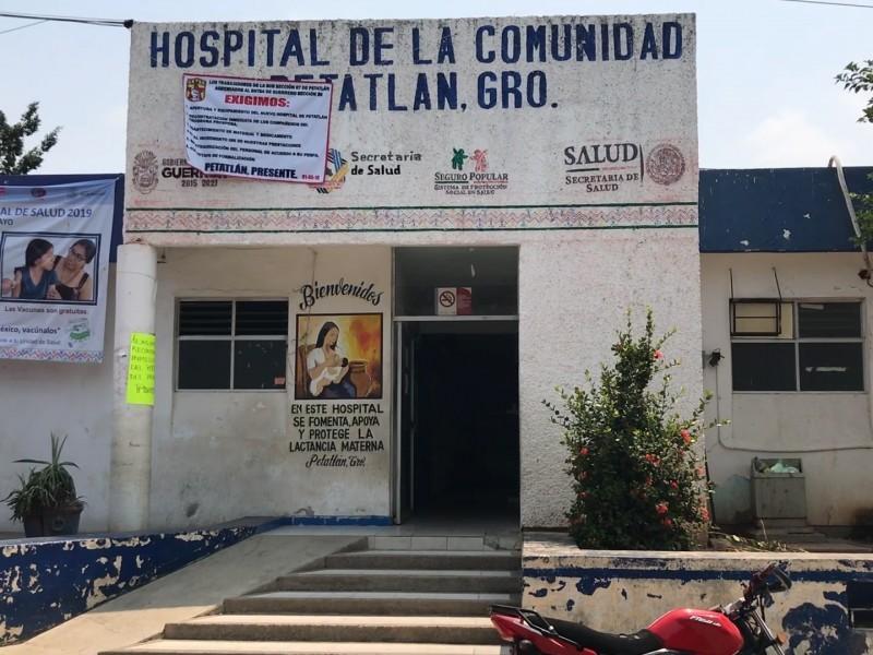 Cinco empleados del hospital de Petatlán con síntomas sospechosos
