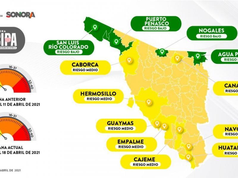 Cinco municipios en riego de volver a naranja