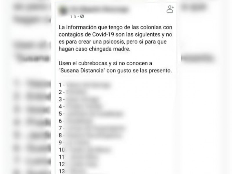Circula información falsa de colonias con covid-19 en Morelia: Ayuntamiento