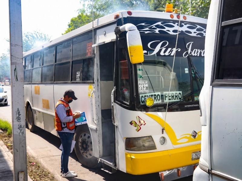 Ciudadanía cada vez más consciente del uso del cubrebocas: Autotransporte