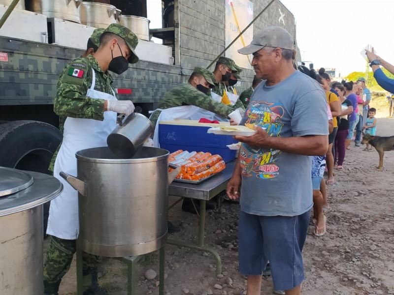 Ciudadanía de zona norte agradece apoyo del ejército mexicano