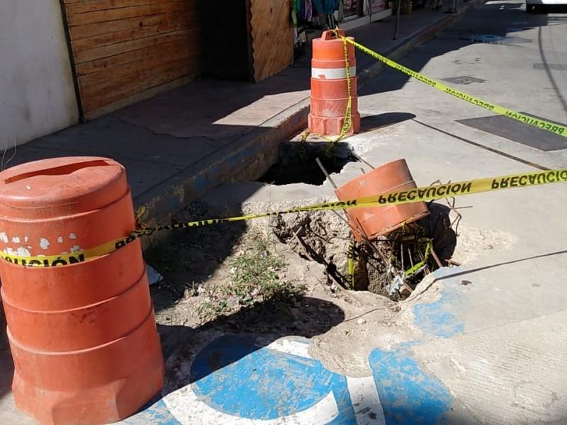 Ciudadanos denuncian mal estado de la infraestructura de zona centro