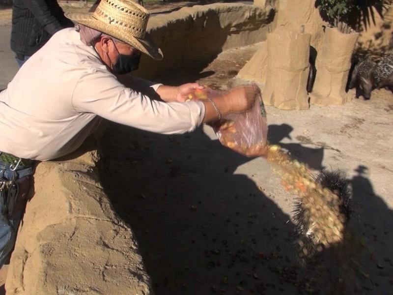 Ciudadanos donan comida para animales del Zoológico de León