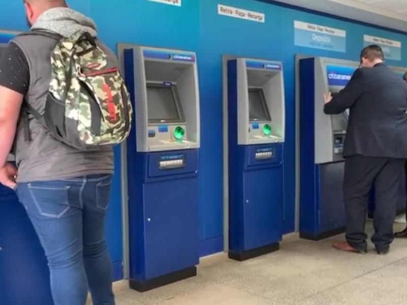 Ciudadanos perciben alta inseguridad en cajeros automáticos