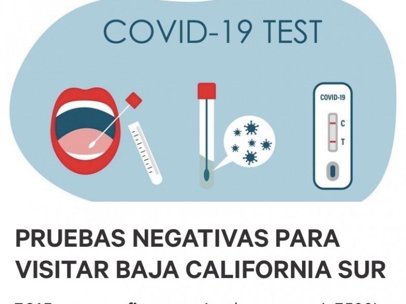Ciudadanos piden pruebas negativas de COVID 19 al llegar BCS