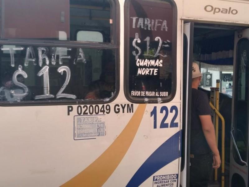Ciudadanos señalan que costo de transporte es injusto