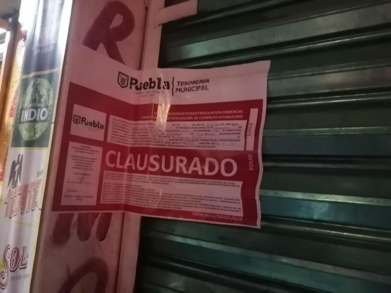Clausuran 9 establecimientos en la última semana en Puebla Capital