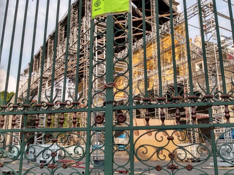 Clausuran montaje Capilla Sixtina en catedral