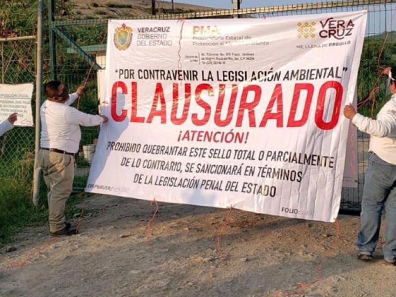 Clausuran relleno sanitario en Poza Rica