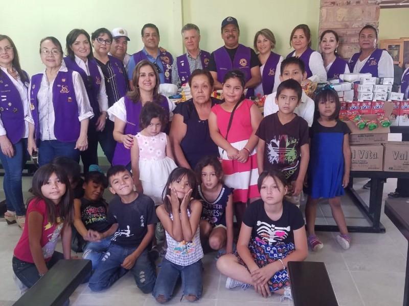 Club de Leones realiza donacion a Comedor Infantil