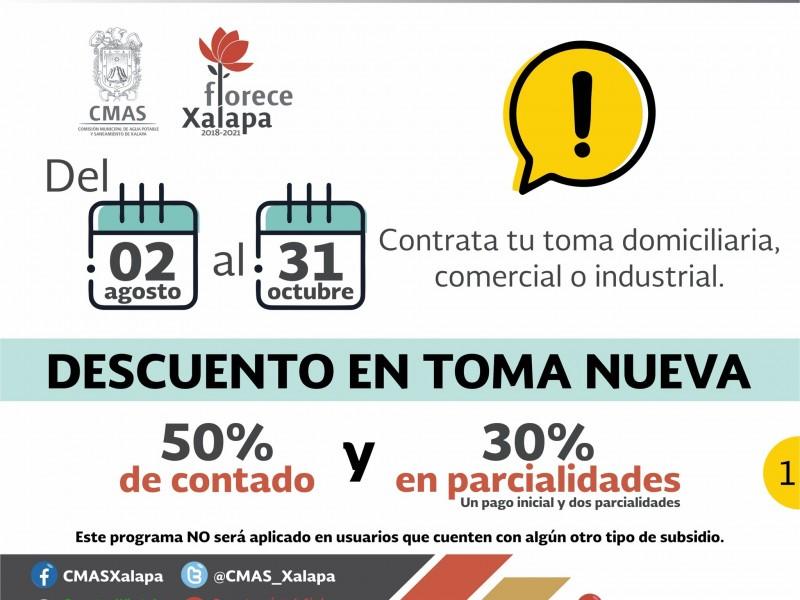 CMAS Xalapa aplicará descuentos a tomas nuevas