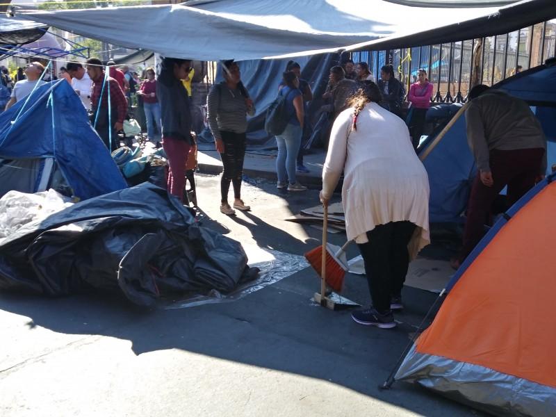 CNTE inicia retiro de plantón de Morelia
