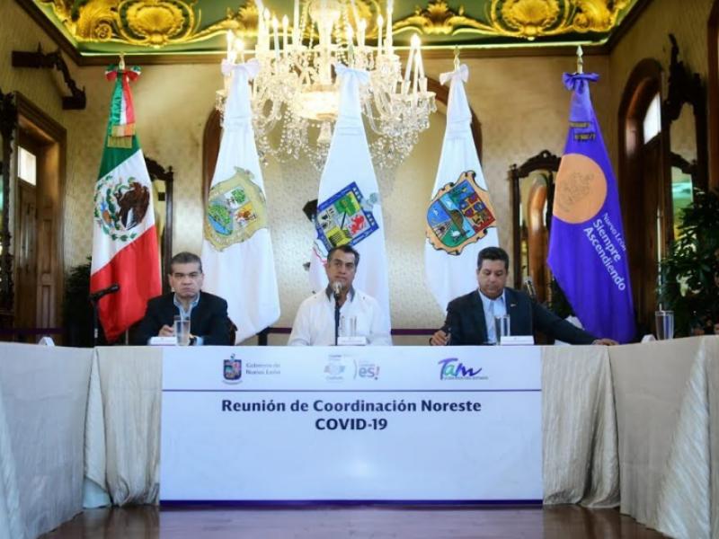Coahuila, Nuevo León y Tamaulipas forman frente contra coronavirus