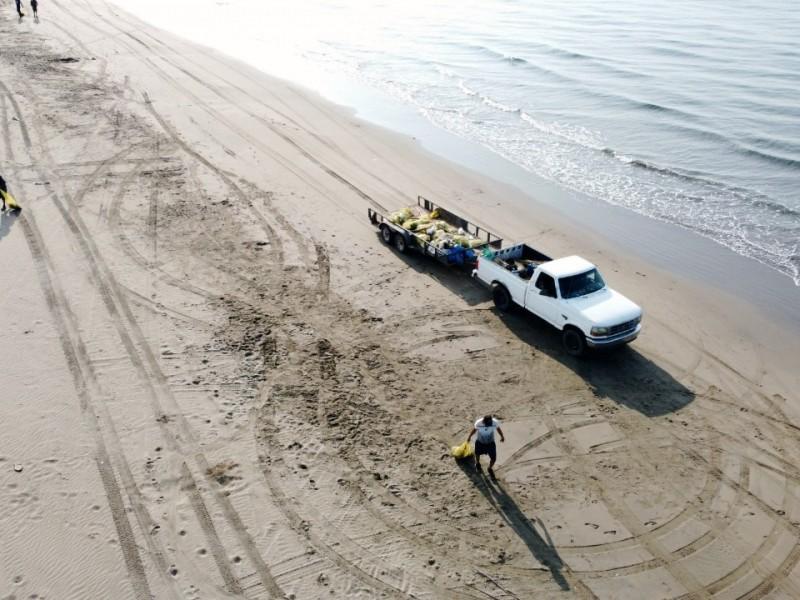 ¡Cochinones! dejan 7 toneladas de basura en playas de Huatabampo