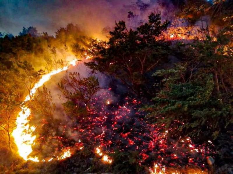 COESFO atiende incendio en Chimalapas