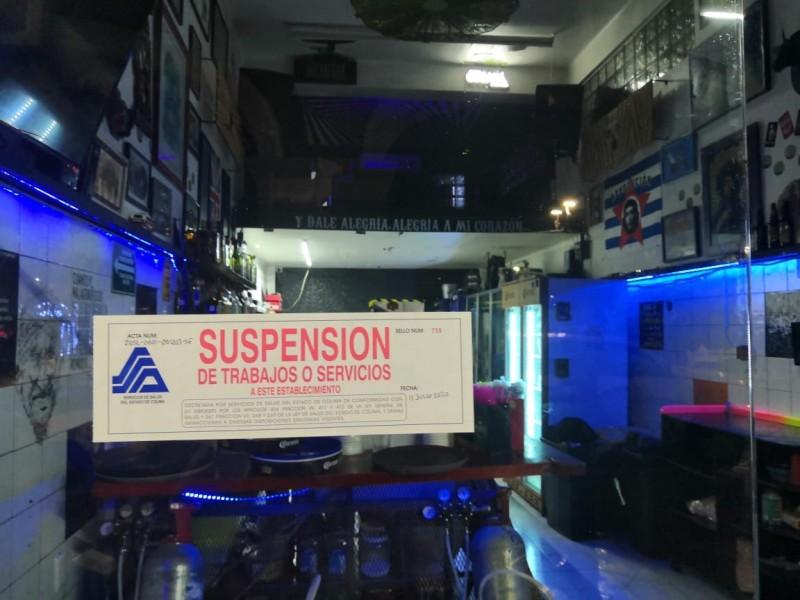 Coespris cierra bares del centro de Colima